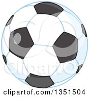 Clipart Of A Shiny Soccer Ball Royalty Free Vector Illustration by Alex Bannykh