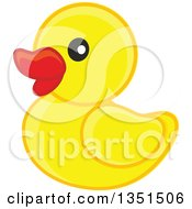 Clipart Of A Cute Yellow Duckling Or Rubber Ducky Royalty Free Vector Illustration