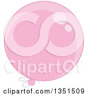 Clipart Of A Shiny Pink Party Balloon Royalty Free Vector Illustration