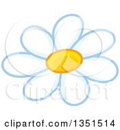 Clipart Of A White Daisy Flower Royalty Free Vector Illustration