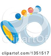 Clipart Of A Toy Horn Instrument Royalty Free Vector Illustration