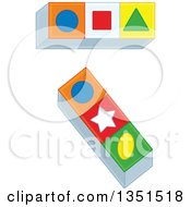 Clipart Of Colorful Toy Blocks With Shapes Royalty Free Vector Illustration by Alex Bannykh