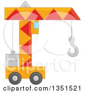Clipart Of A Toy Construction Crane Royalty Free Vector Illustration
