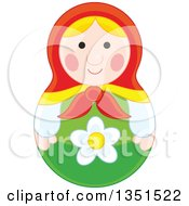 Clipart Of A Nesting Doll Toy Royalty Free Vector Illustration by Alex Bannykh
