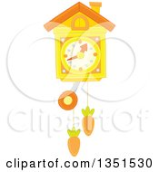 Clipart Of A Clock With Carrots Royalty Free Vector Illustration