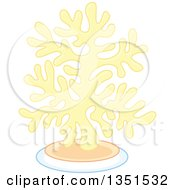 Clipart Of A Pastel Yellow Sea Coral Royalty Free Vector Illustration