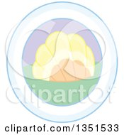 Clipart Of A Picture Of A Scallop Sea Shell In An Oval Frame Royalty Free Vector Illustration
