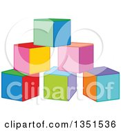Clipart Of Colorful Toy Blocks Royalty Free Vector Illustration
