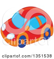 Clipart Of A Toy Car Royalty Free Vector Illustration by Alex Bannykh