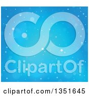 Clipart Of A Blue Snowy Winter Christmas Background Royalty Free Vector Illustration
