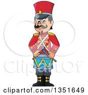 Cartoon Happy Male Soldier Drummer
