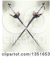 Clipart Of 3d Crossed Musketeer Swords Over A Magic Background Royalty Free Illustration by Tonis Pan