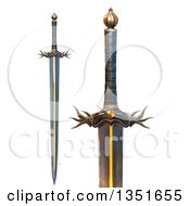 Clipart Of 3d Evil Swords Royalty Free Illustration by Tonis Pan