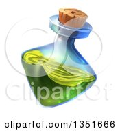 Clipart Of A Potion Bottle With Green Liquid Royalty Free Illustration by Tonis Pan