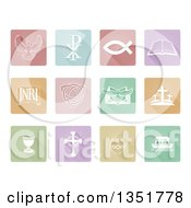 Pastel Square Christian Icons And Symbols