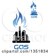 Black And Blue Natural Gas And Flame Designs With Text 26