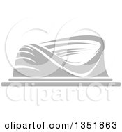 Clipart Of A Gray Sports Stadium Arena Building 2 Royalty Free Vector Illustration