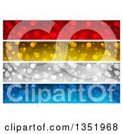 Clipart Of Red Gold Silver And Blue Sparkle Website Header Banners Royalty Free Vector Illustration