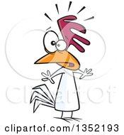 Cartoon Nervous Chicken