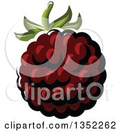 Clipart Of A Cartoon Blackberry Royalty Free Vector Illustration