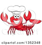 Clipart Of A Cartoon Happy Lobster Chef Royalty Free Vector Illustration by Vector Tradition SM