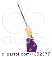 Wizard Hand Using A Magic Wand