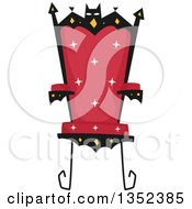 Clipart Of A Vampire Throne Royalty Free Vector Illustration