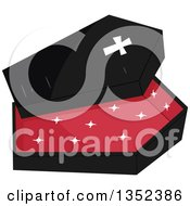 Clipart Of A Vampire Coffin Royalty Free Vector Illustration