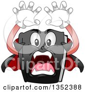 Clipart Of A Cartoon Vampire Book Attacking Royalty Free Vector Illustration
