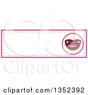 Clipart Of A Vampiress Mouth Border Royalty Free Vector Illustration