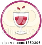 Clipart Of A Round Glass Of Blood Icon Royalty Free Vector Illustration