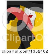 Clipart Of A Blond Female Vampire Royalty Free Vector Illustration