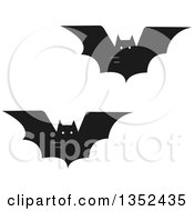 Clipart Of Flying Vampire Bats Royalty Free Vector Illustration by BNP Design Studio