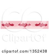 Clipart Of A Halloween Border Of Vampire Bats Royalty Free Vector Illustration by BNP Design Studio