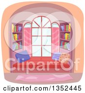 Clipart Of A Window Library Nook Royalty Free Vector Illustration by BNP Design Studio