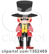 Clipart Of A Male Magician In A Top Hat Royalty Free Vector Illustration by BNP Design Studio