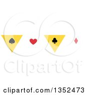 Clipart Of A Magic Spade Heart Club And Diamond Border Royalty Free Vector Illustration by BNP Design Studio