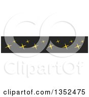 Clipart Of A Magic Star Border Royalty Free Vector Illustration by BNP Design Studio