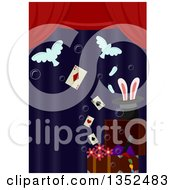 Clipart Of Magic Props On Stage Royalty Free Vector Illustration