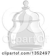 Sketched Glass Apothecary Jar