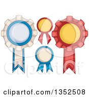Clipart Of Award Ribbons Royalty Free Vector Illustration