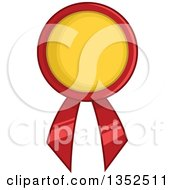 Clipart Of A Red And Yellow Award Ribbon Royalty Free Vector Illustration