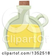 Clipart Of A Bottle With A Yellow Potion Royalty Free Vector Illustration