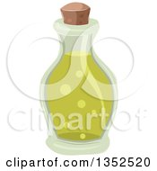 Clipart Of A Bottle With A Green Potion Royalty Free Vector Illustration