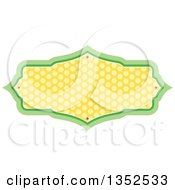 Clipart Of A Green And Yellow Polka Dot Frame Royalty Free Vector Illustration by BNP Design Studio