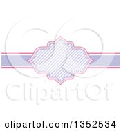 Clipart Of A Pink And Purple Stripe Frame Royalty Free Vector Illustration