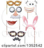Clipart Of Photo Booth Props Royalty Free Vector Illustration