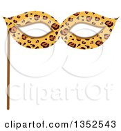 Clipart Of A Photo Booth Prop Leopard Print Eye Mask Royalty Free Vector Illustration