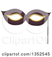 Clipart Of A Photo Booth Prop Eye Mask Royalty Free Vector Illustration