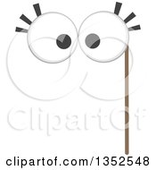 Clipart Of A Photo Booth Big Eyes Prop Royalty Free Vector Illustration
